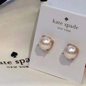 Kate Spade Pearl Gumdrop Stud Earrings Rose Gold